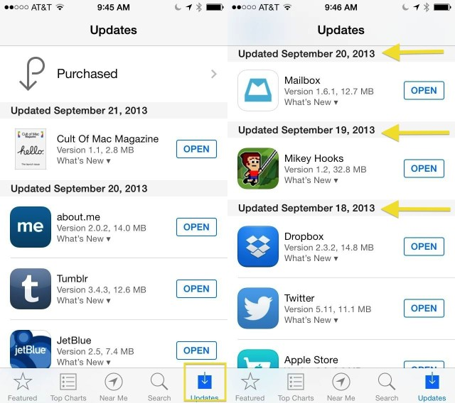 Latest iOS 7 Updated Apps