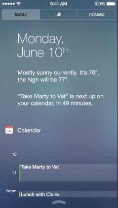 Notification Center on iPhone.