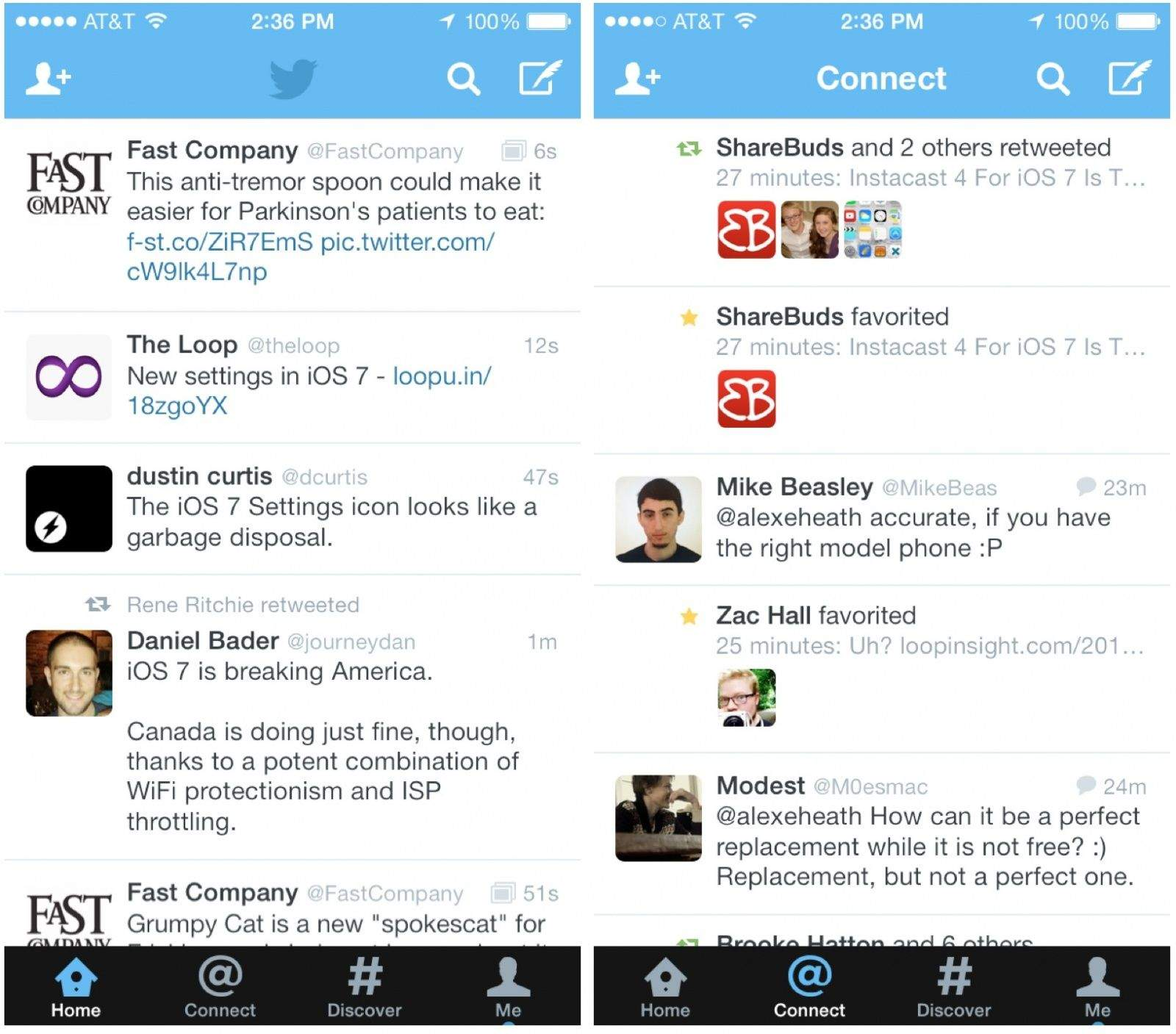 Twitter For IOS 7 Released With New Design, Icon On IPhone