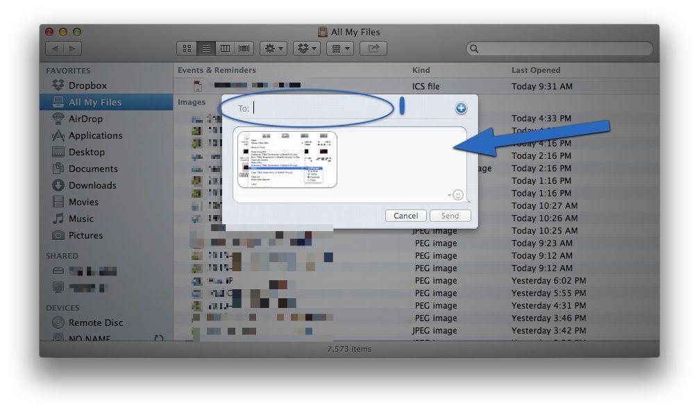 Send Files via iMessage