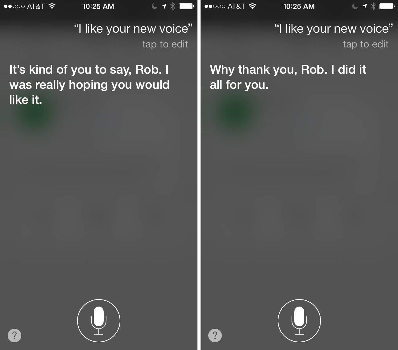 Siri New Voice