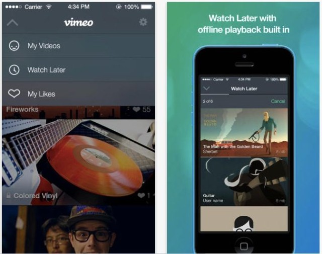 Vimeo for iOS 7