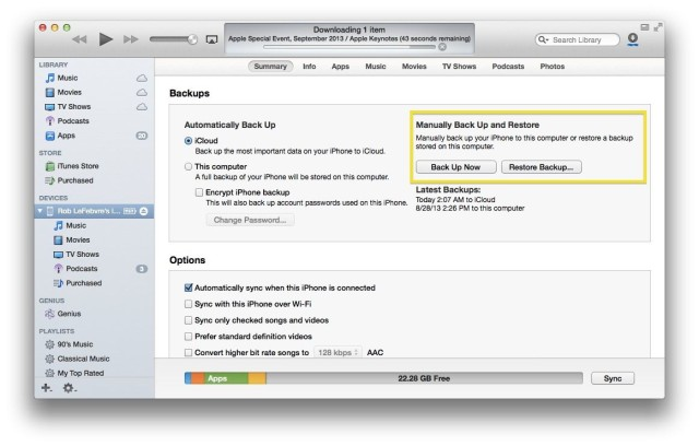 Get Your iPhone Ready For iOS 7 - Make A Good Backup Today