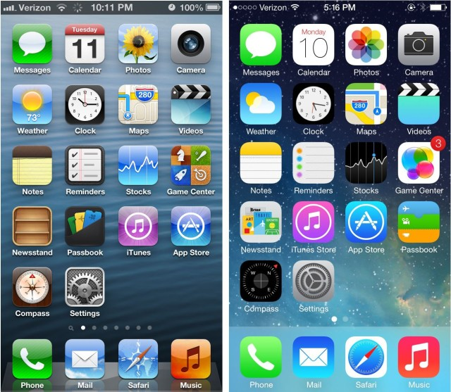 Getting To Know The IOS 7 Interface At A Glance [iOS 7