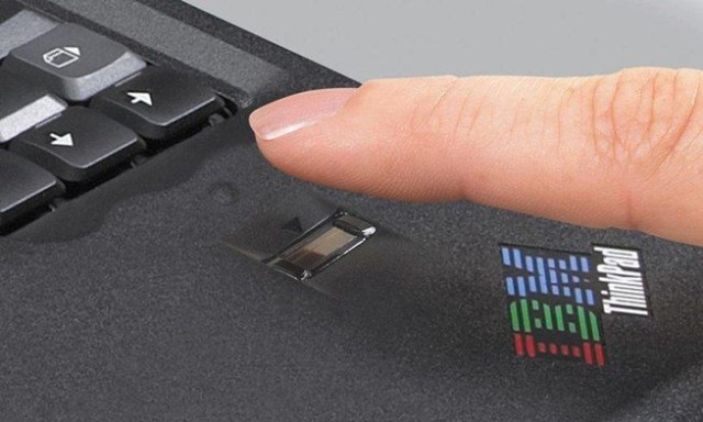 UPEK's fingerprint readers were built into laptops like this IBM Thinkpad.