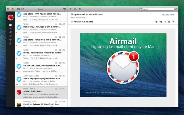 airmail for mac updated for mavericks with quick reply from