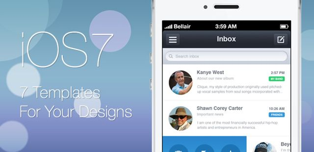 Ending soon seven ios 7 templates to bring your app idea to life seven ios 7 templates to bring your app idea to life in no time deals pronofoot35fo Choice Image