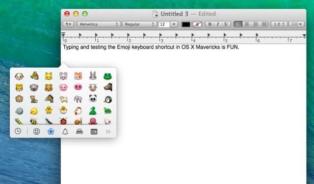 emoji mac os x mavericks