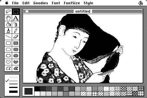 The real MacPaint in action. Source: Wikipedia