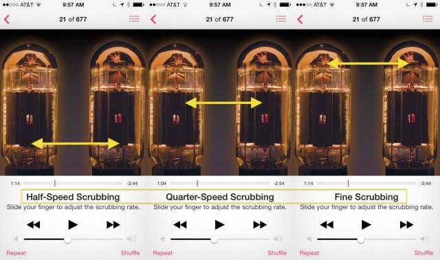 Music App Scrubbing