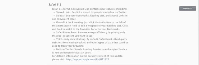Safari 6.1