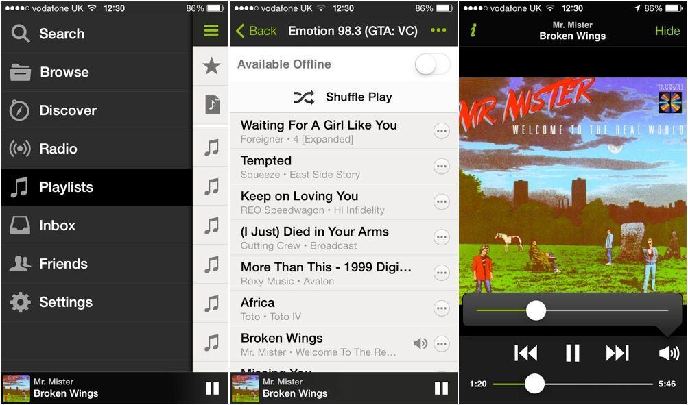 Spotify-iOS-7
