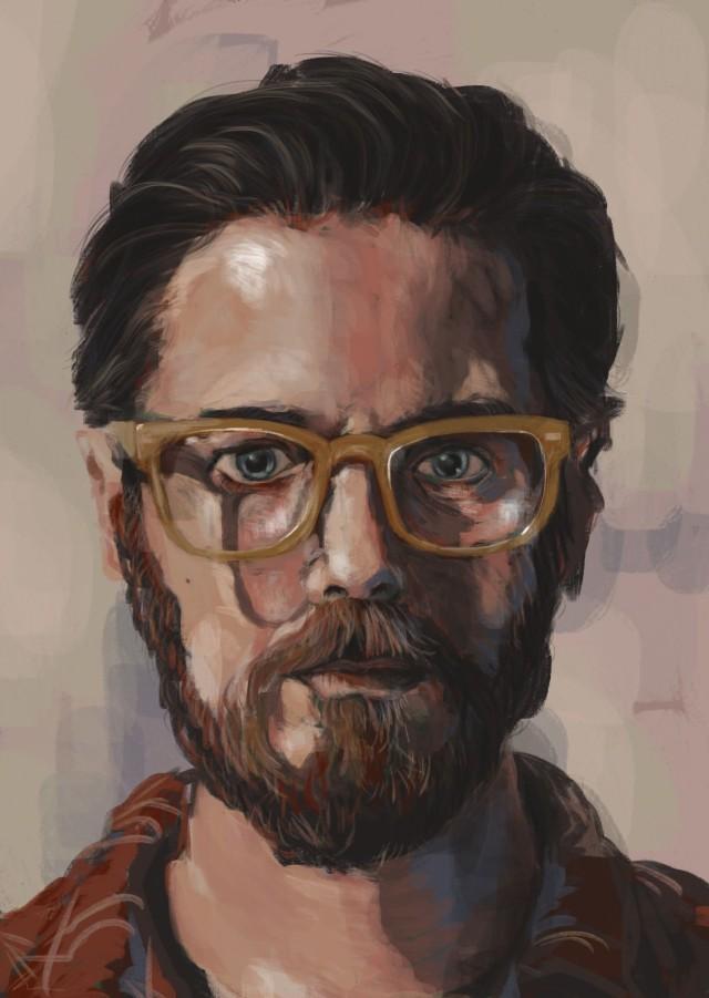 """Self Portrait In Yellow Glasses"" @Roz Hall"