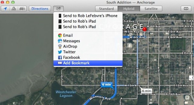 Send Directions to iPhone