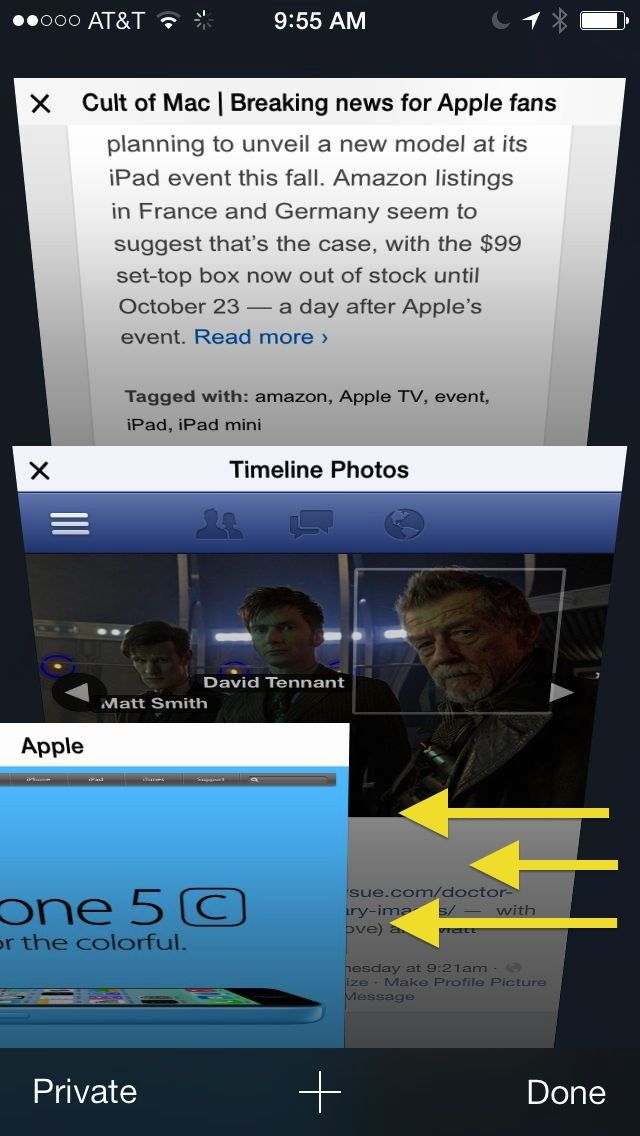 Swipe Those iOS 7 Safari Tabs Away [iOS Tips] | Cult of Mac