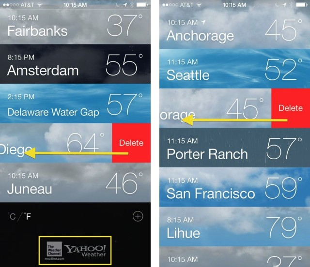 See All Your Locations At Once In The New Ios 7 Weather App Ios
