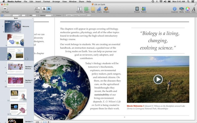 Books Created In iBooks Author Can Now Be Previewed In