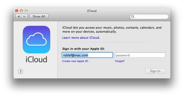 iCloud Signed Out