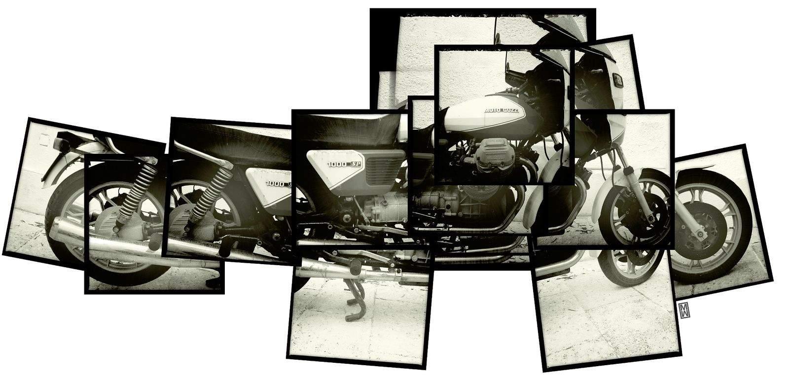 """My 1983 Moto Guzzi SP 1000.""  @Matthew Watkins. Hipstamatic + PS."