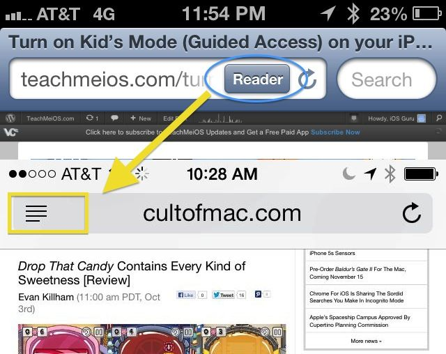 readerSafari iOS 7