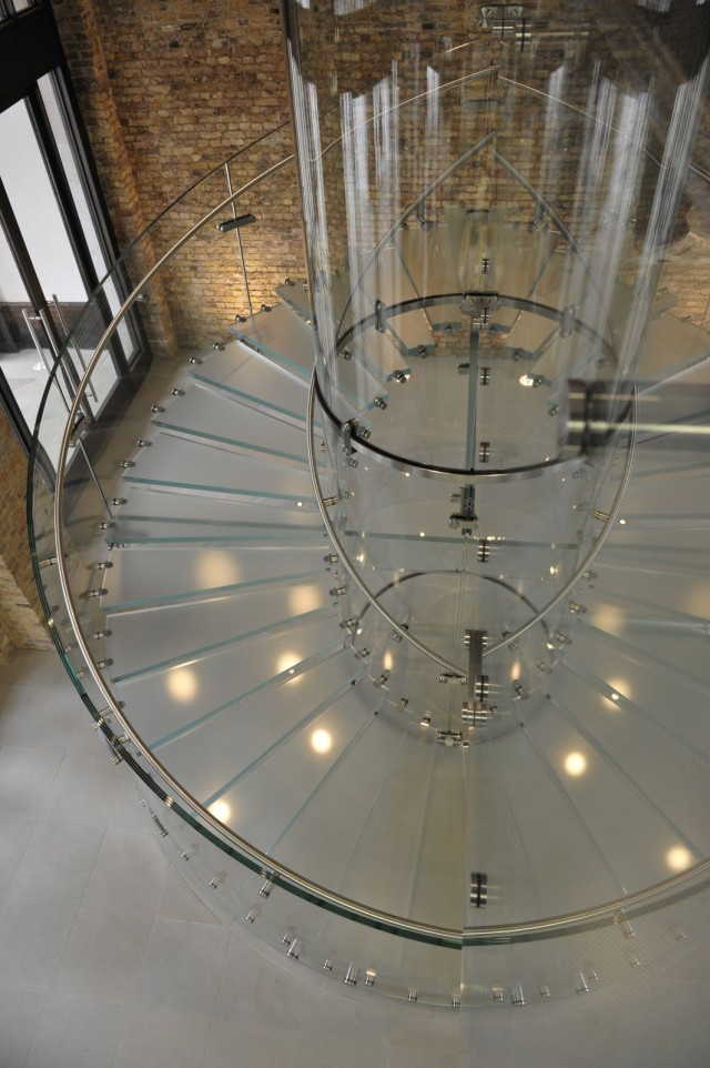 The glass stairs seen at Apple Stores were a nod to a similar staircase built for Jobs' NeXT headquarters (credit: Owen Billcliffe)