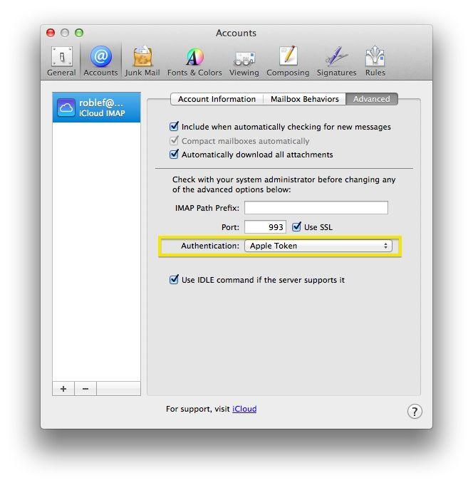 Apple Mail iCloud bug