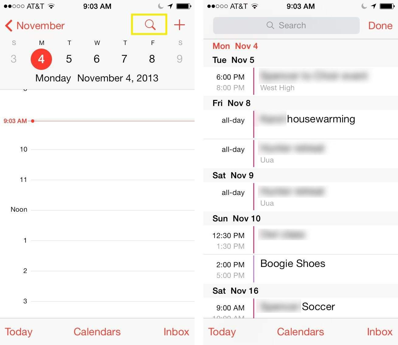 Weekly Calendar View For Iphone Scrollable : Get the list view back in ios s calendar app tips