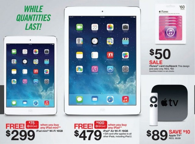 100% authentic 2c250 d68c0 Target Reveals Black Friday Deals, Including $479 iPad Air With $100 ...