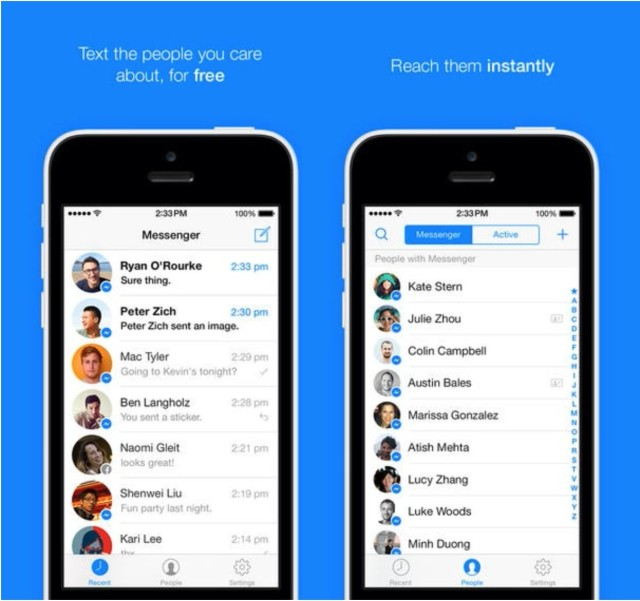 facebook iphone app completely redesigned messenger ios 7 app now 10568