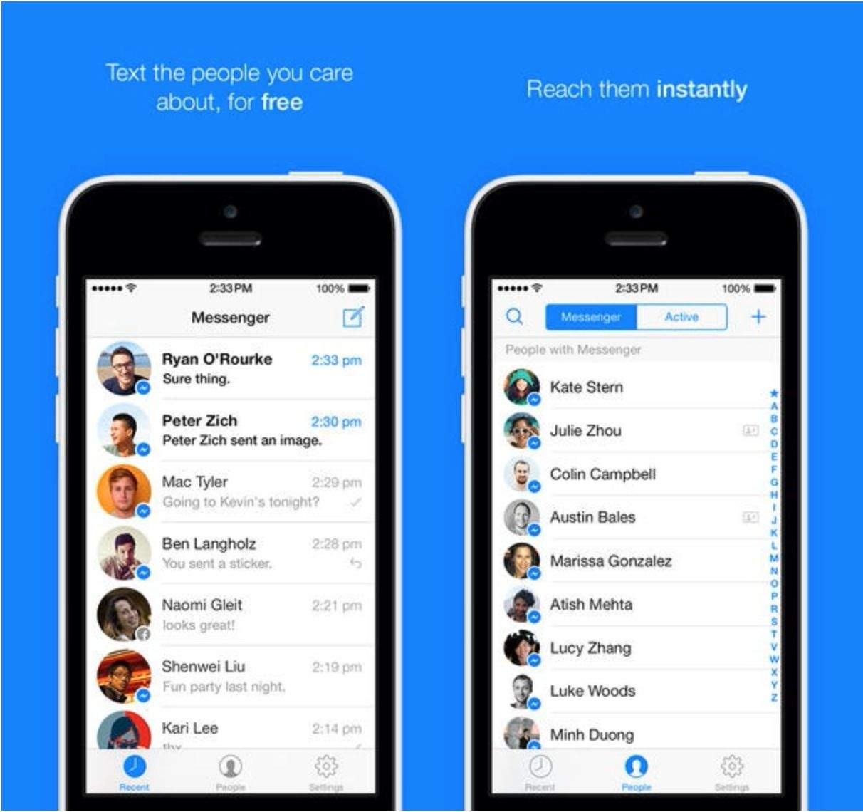 Completely Redesigned Facebook Messenger Ios 7 App Now