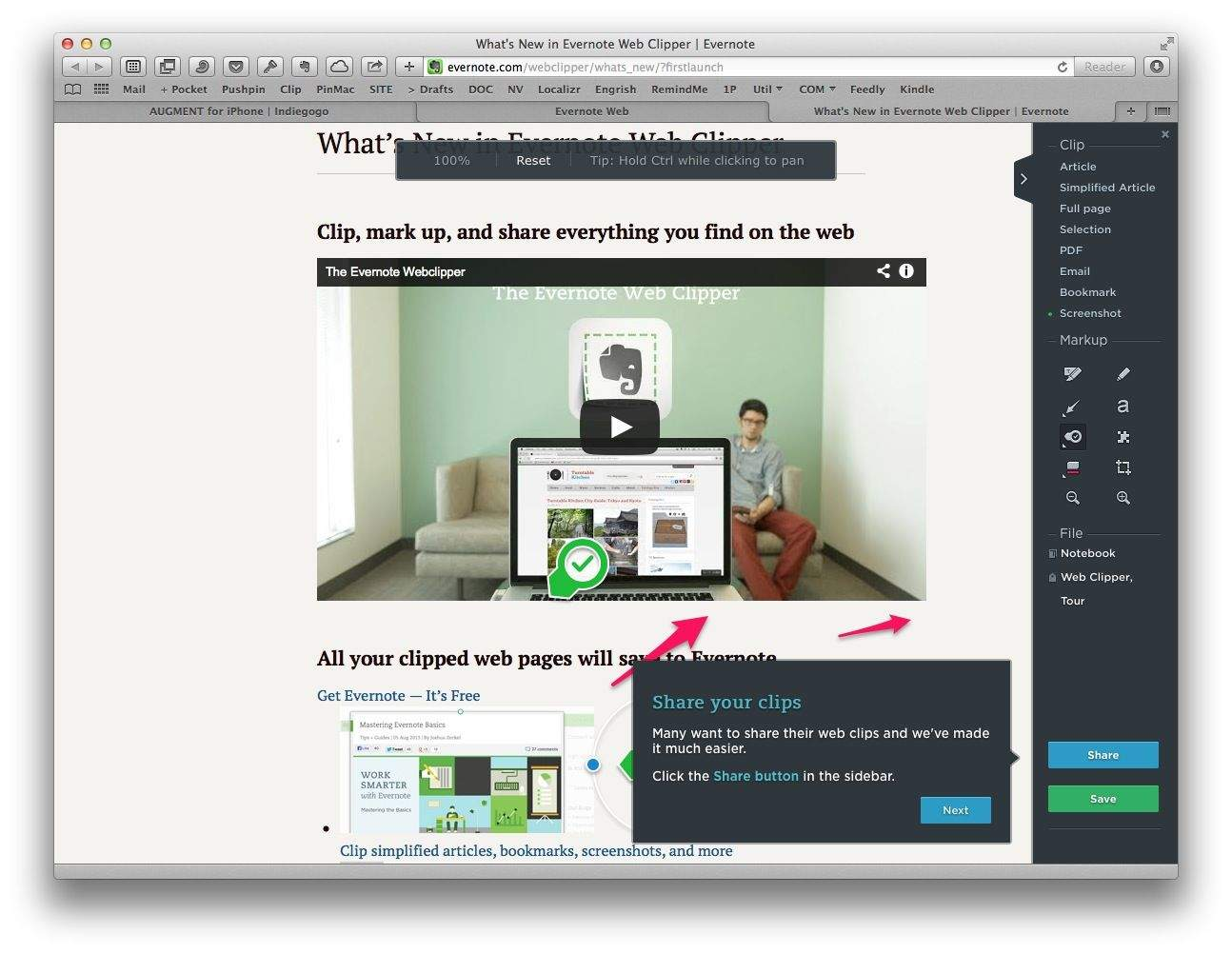 New Evernote Safari Extension: Mark Up And Annotate The Web | Cult