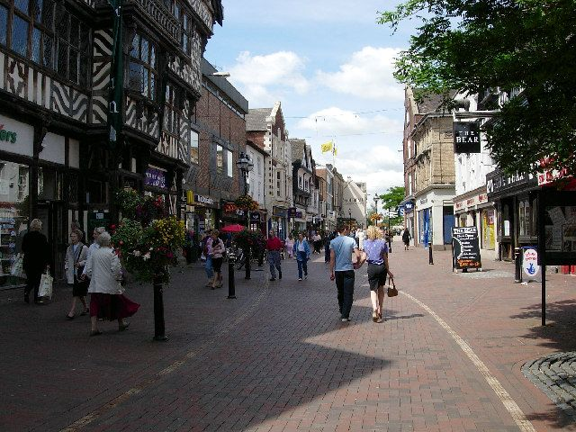 Stafford town center. Image from Wikimedia Commons: http://upload.wikimedia.org/wikipedia/commons/4/42/Stafford_town_centre.jpg