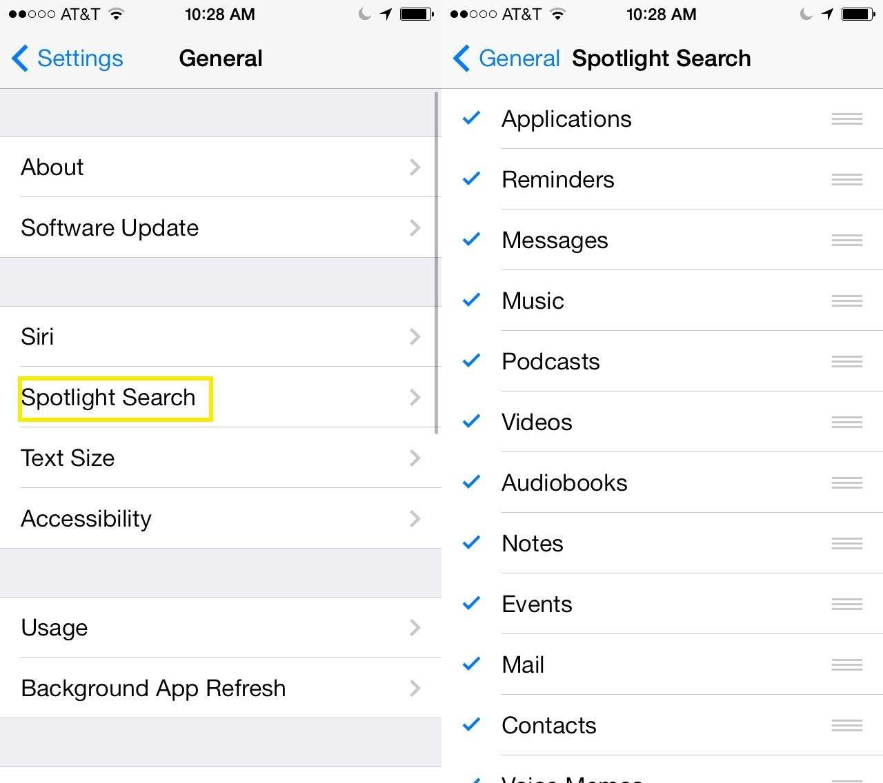 customize spotlight