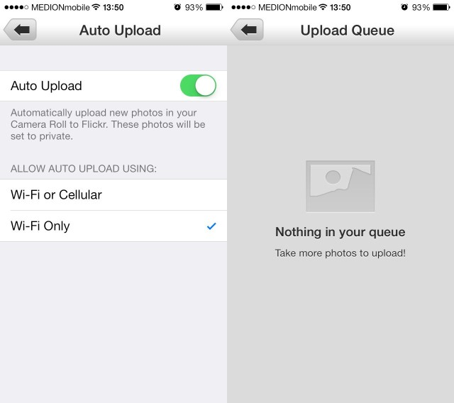Flickr auto upload is one of the best things about iOS 7.