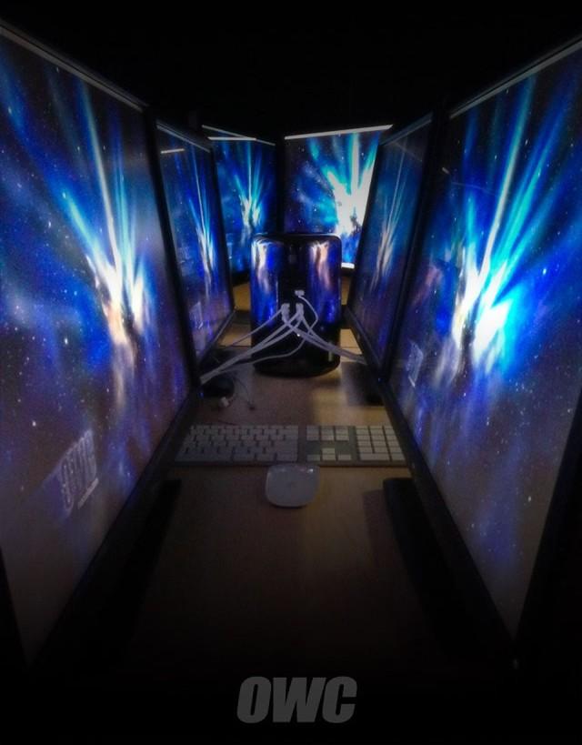 OWC Mac Pro drives Six Displays