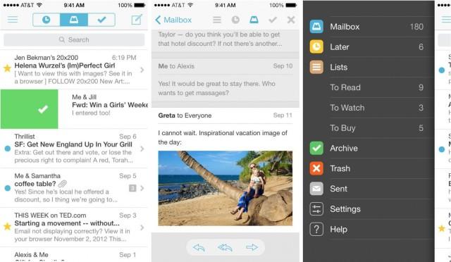 Mailbox-screenshots