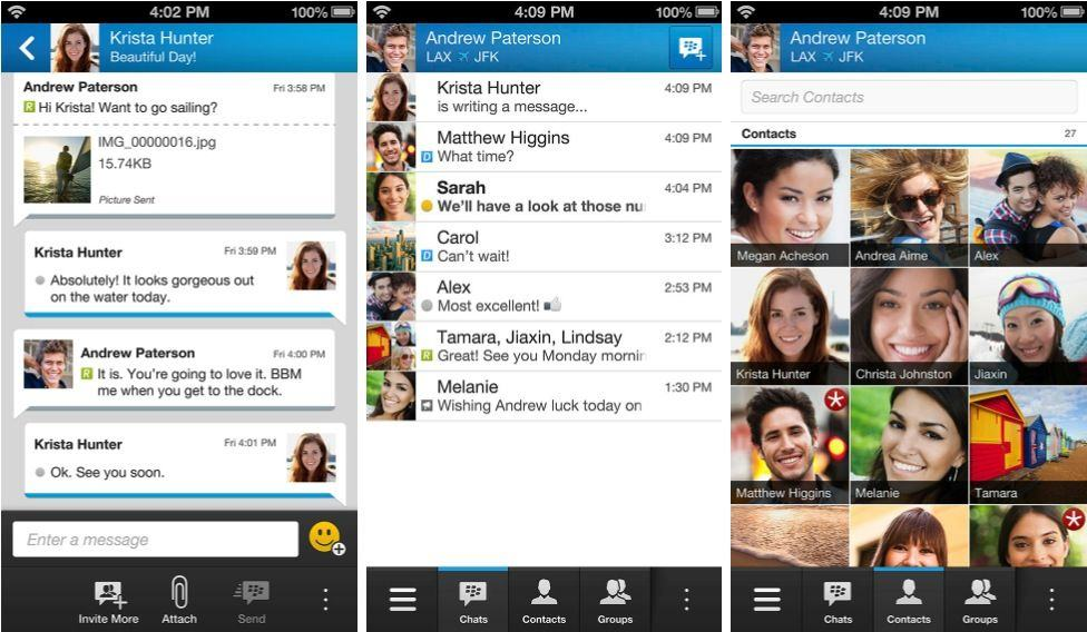 BBM-screenshots