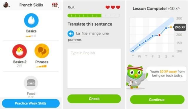 Duolingo-screenshots