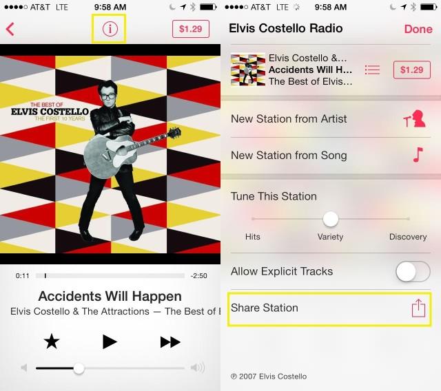 Share iTunes Radio Stations