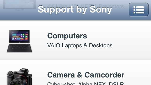 Support by Sony