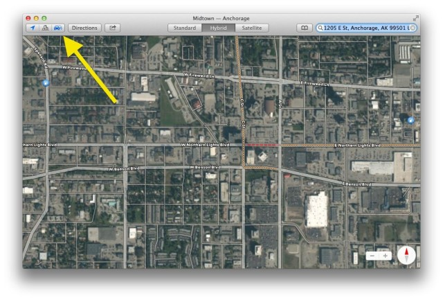 Get Live Traffic And Other Road Information In Maps In Mavericks Os