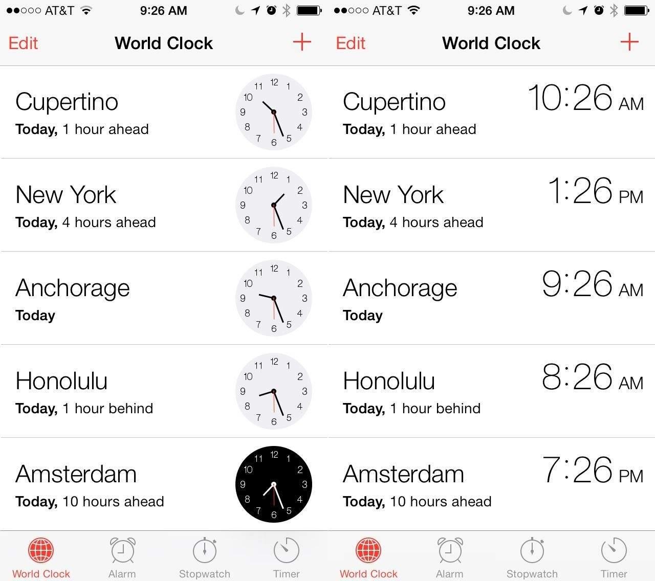 World Clock Style