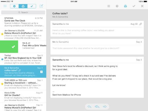 Give Mailbox a try and change your whole attitude on email.