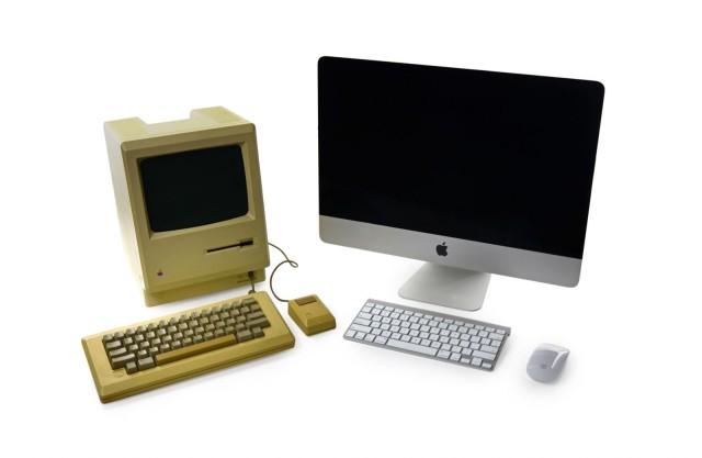 128k Mac and 21-inch iMac