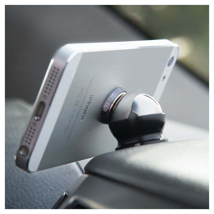 Magnetic Ball Mount Secures Your Iphone To Your Car S Dash