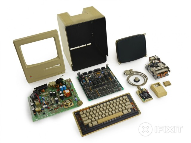Disassembled Mac 128k