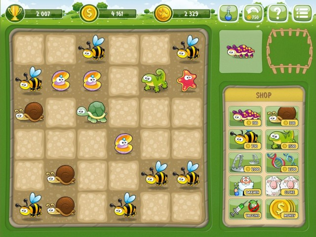 You can't move pieces around on the board which makes connecting speciality animals difficult.