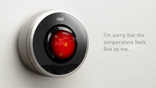 Google's acquisition of Nest will allow the company to monitor you in your home, some say. Image: http://mlkshk.com/p/8PY6