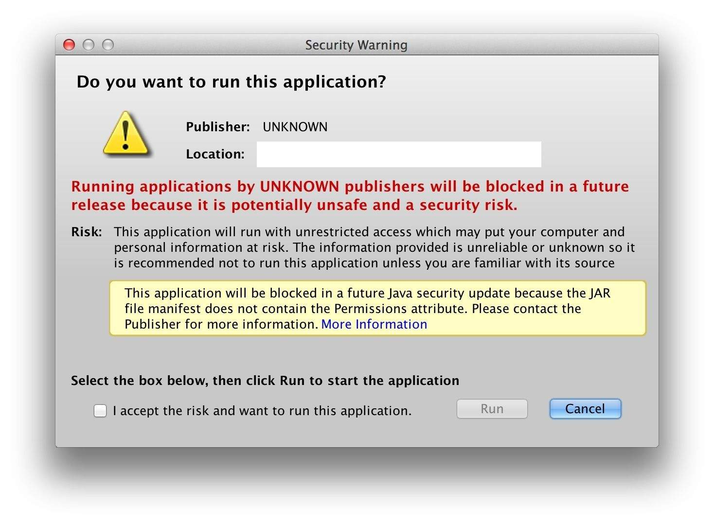 How To Allow Self-Signed Java Run On Your Mac [OS X Tips