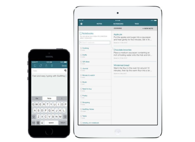 SwiftKey Note iPhone and iPad